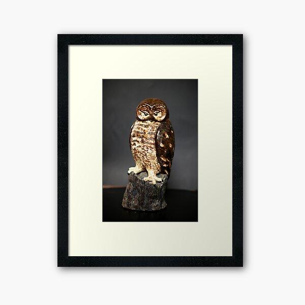 Owl Sculpture Framed Art Print