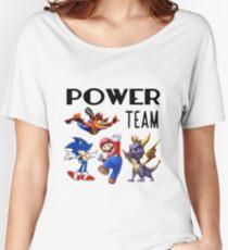 Gaming Power Team: Mario, Crash, Spyro, Sonic Women's Relaxed Fit T-Shirt