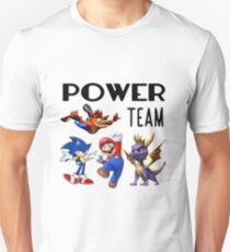 Gaming Power Team: Mario, Crash, Spyro, Sonic T-Shirt