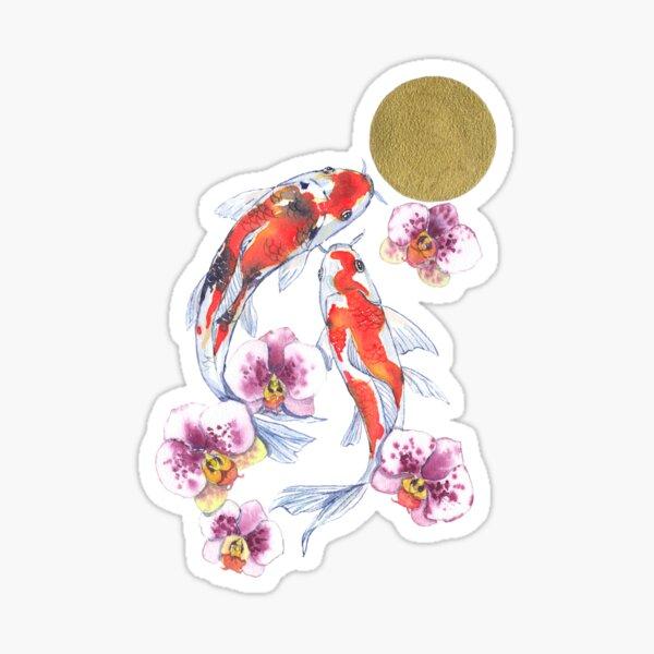 Carpes et Orchidées Sticker