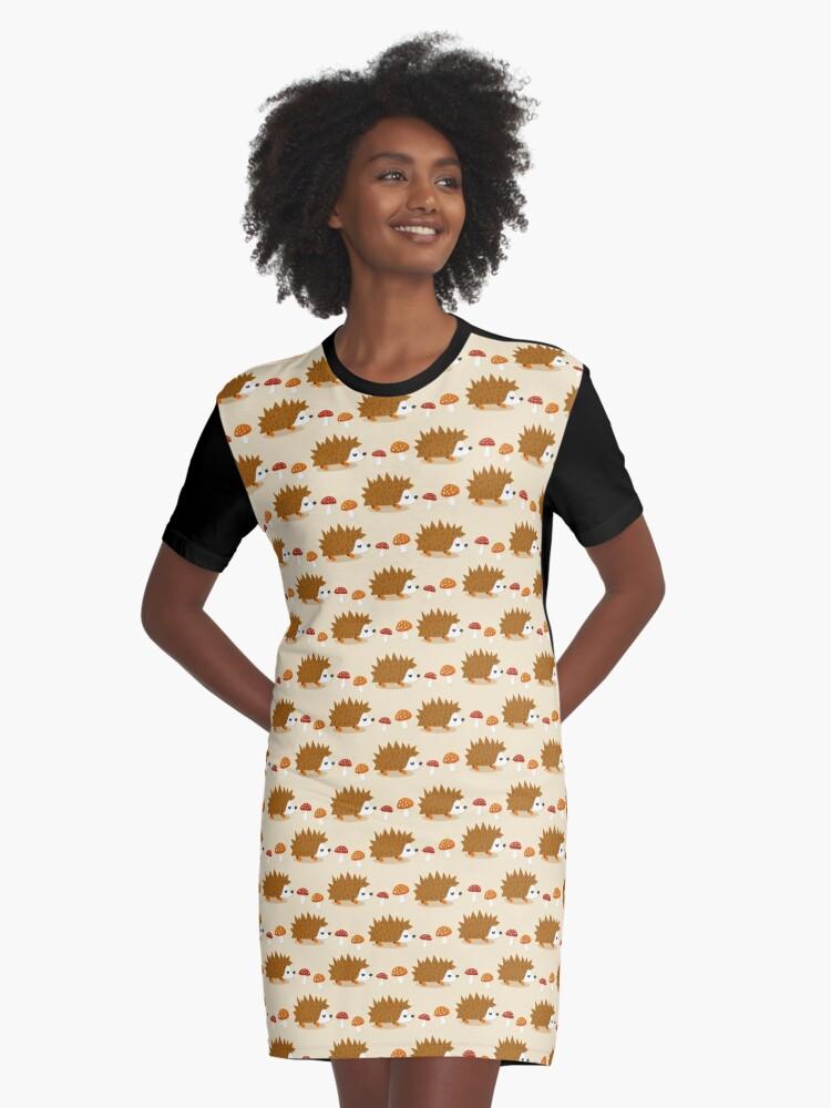 Cute Autumn Life Graphic T-Shirt Dress Front