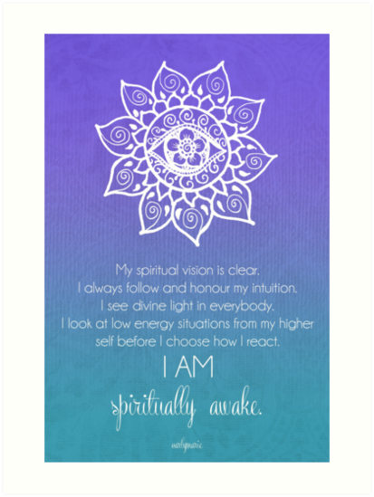 quotthird eye chakra affirmationquot art prints by carlymarie