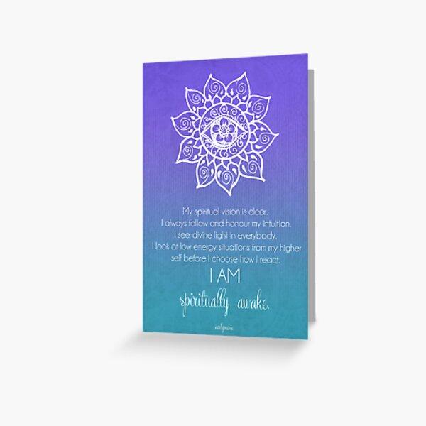 Third Eye Chakra Affirmation Greeting Card