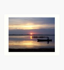 Tranquil Lagoon Scene Art Print