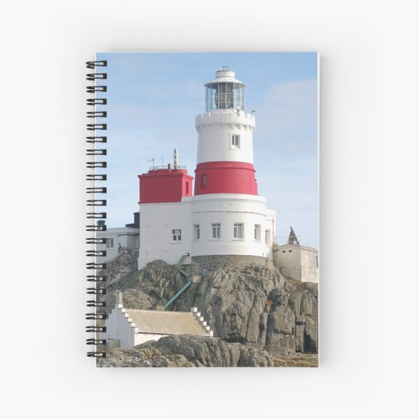 Skerries Lighthouse, Anglesey Spiral Notebook