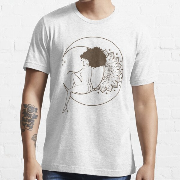 Woman on the moon Girl on the moon Essential T-Shirt