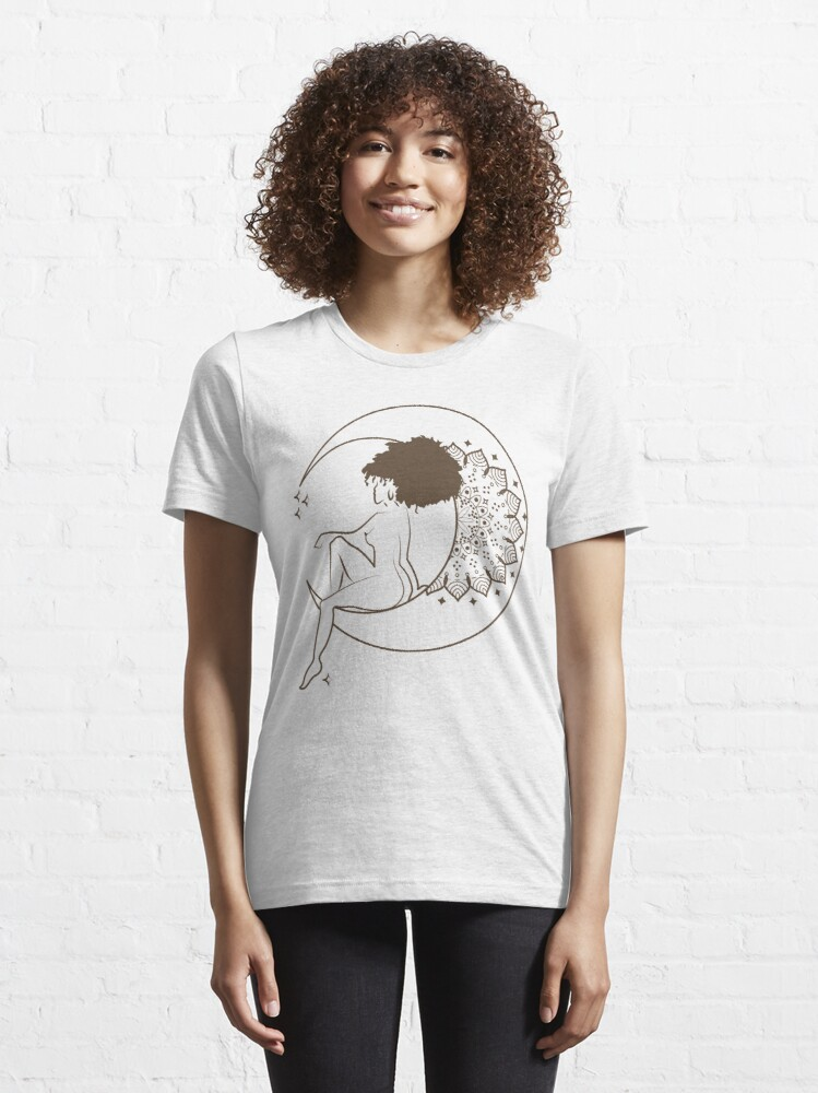 Alternate view of Woman on the moon Girl on the moon Essential T-Shirt