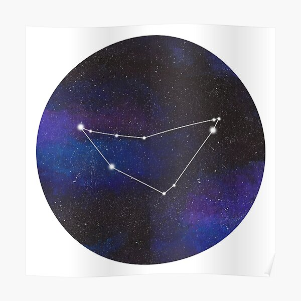 Capricorn - galaxy star constellation Poster