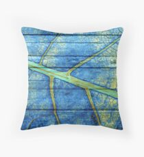 The painting leaf paint on the wood #4 Throw Pillow