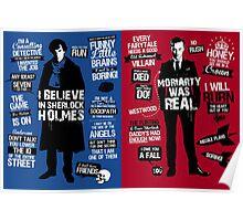 sherlock and moriaty Poster
