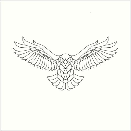 Quot Geometric Eagle Quot Art Print By Harveyparker Redbubble