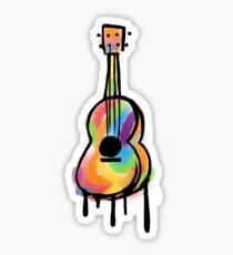 Ukulele Drawing Stickers Redbubble