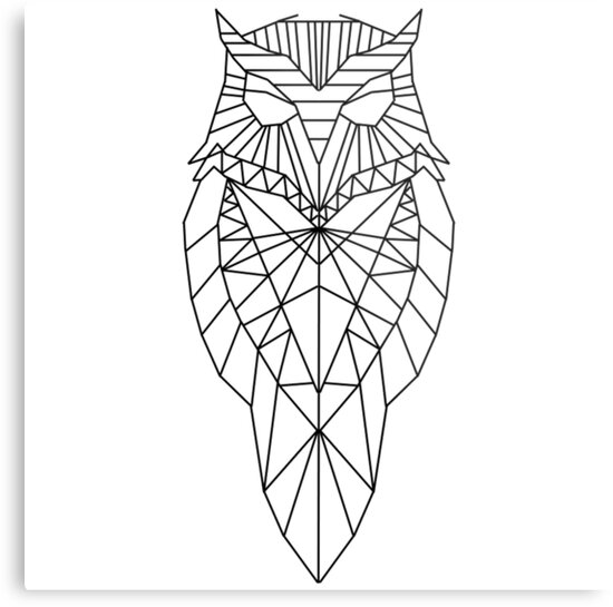 """Geometric Owl"" Metal Prints by HarveyParker 