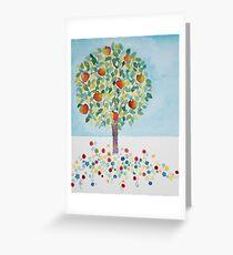 Summer Apple Tree Greeting Card