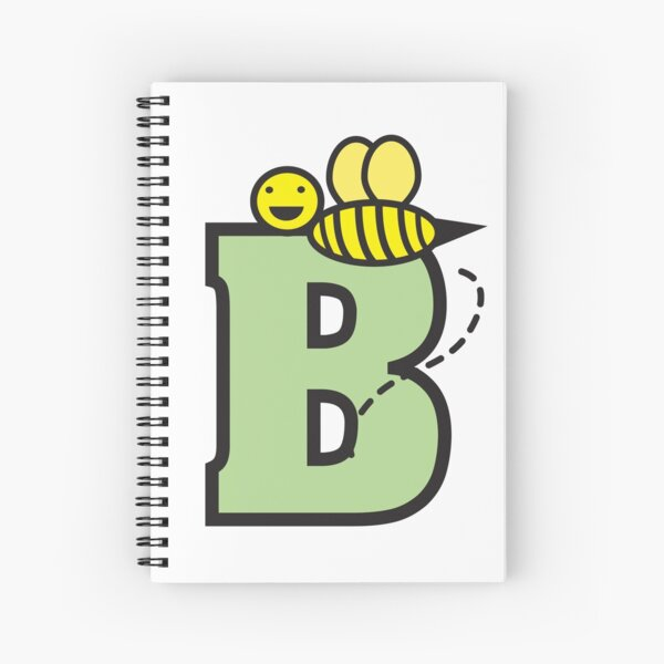 B is for Bee Spiral Notebook