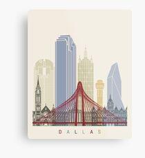 Dallas skyline poster Metal Print