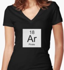 Ar Pirate Women's Fitted V-Neck T-Shirt
