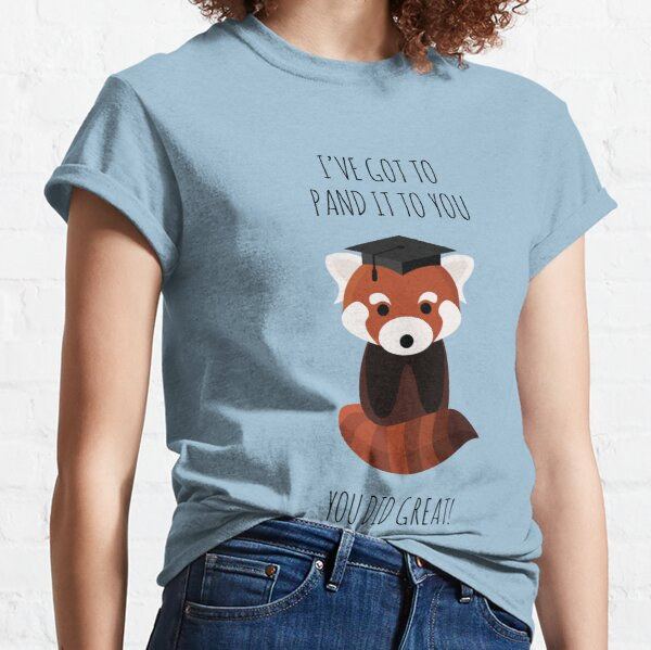 A Red Panda Graduation Classic T-Shirt