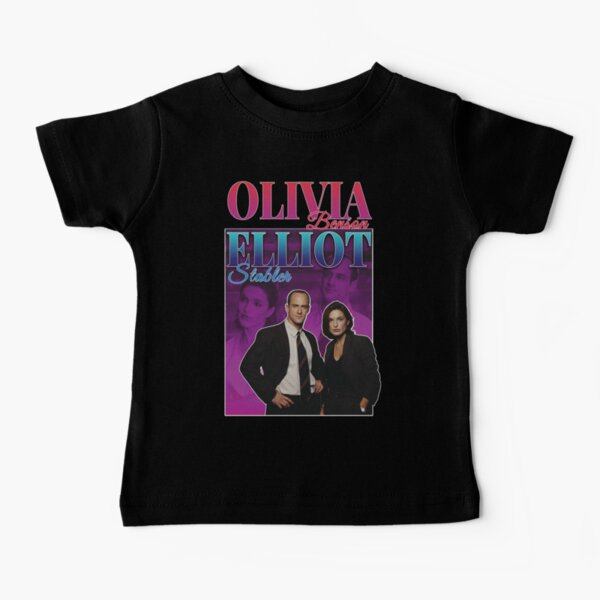 Olivia Benson & Elliot Stabler 90s Inspired Vintage Homage Condensed Baby T-Shirt