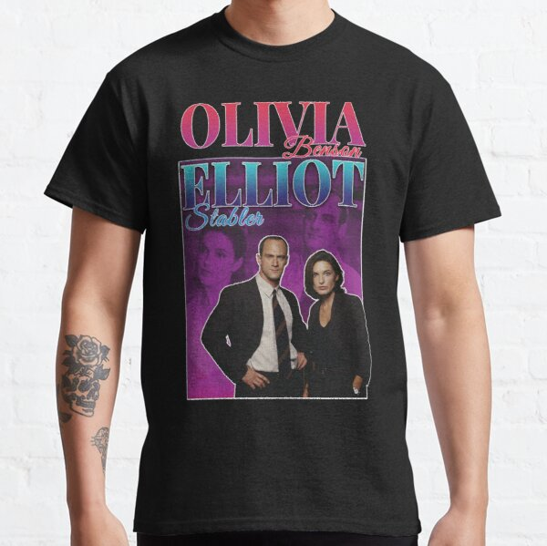 Olivia Benson & Elliot Stabler 90s Inspired Vintage Homage Condensed Classic T-Shirt