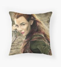 Tauriel Portrait- The Hobbit, Desolation of Smaug Throw Pillow