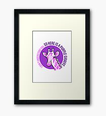 Purple Giraffe Framed Print