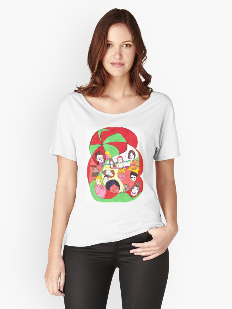 Beach Ball Faces Women's Relaxed Fit T-Shirt Front