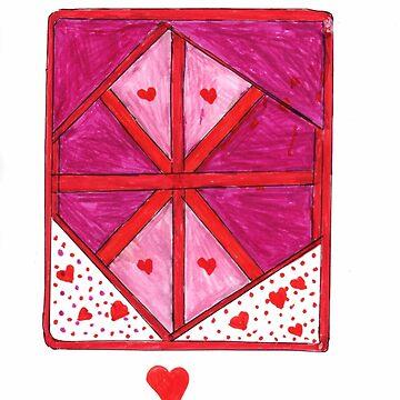 Red Hearts by blanchebenton