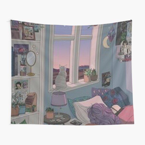 Une petite chambre designi dans le style anim Tentures