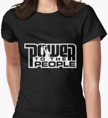 Power To The People - BLACK Women's Fitted T-Shirt