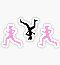 Happy Running Girl Pattern Sticker