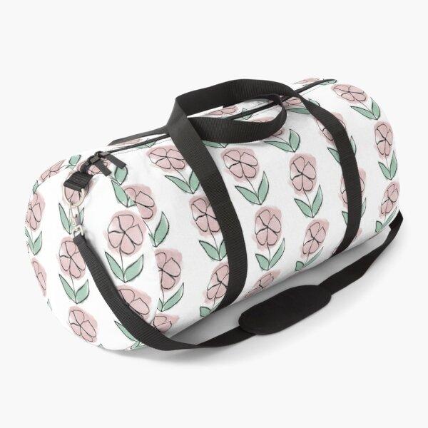 One line art flower  Duffle Bag