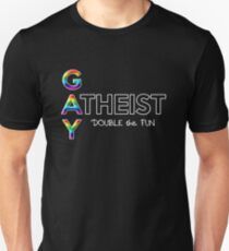 Gay Atheist -- Double the Fun T-Shirt