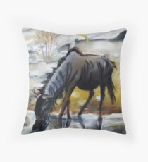 Wildebeest Throw Pillow