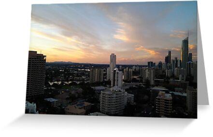 Gold Coast Highrise Sunset by IanJil