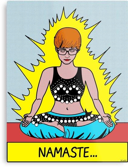 Namaste Pop Art Poster by Parker Daniels