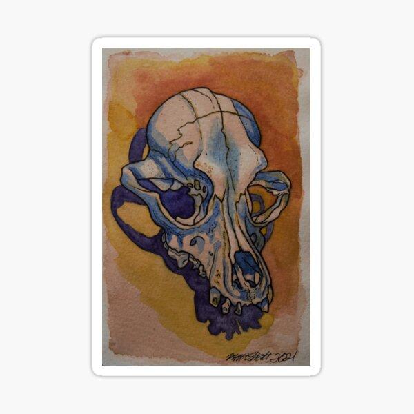 Dog Skull Sticker