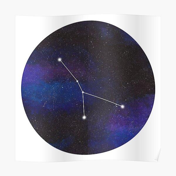 Cancer - galaxy star constellation Poster