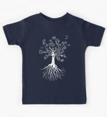 Tree of Life - white on pale blue by Cecca Designs Kids Clothes