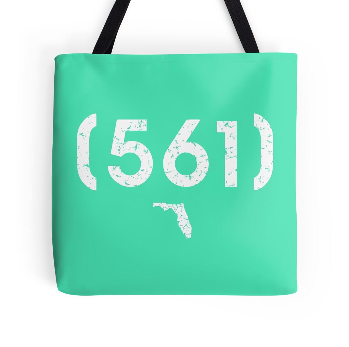 Area Code 561 Florida Tote Bag