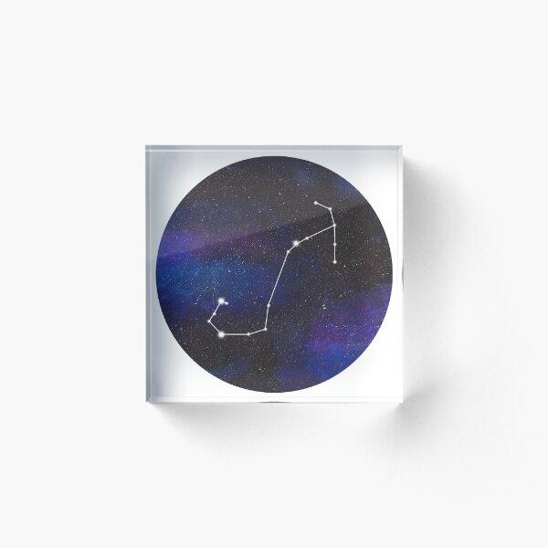 Scorpio - galaxy star constellation Acrylic Block