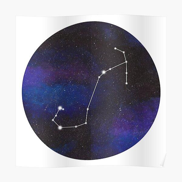 Scorpio - galaxy star constellation Poster