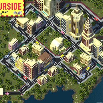 EarthBound Fourside Map by LegendaryHero96