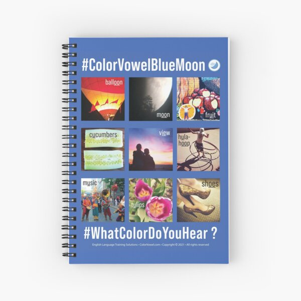 BLUE MOON Collage Spiral Notebook