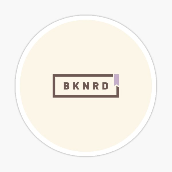 BKNRD - Booknerd (Latte Edition) Sticker