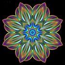 Irridescent Star Mandala by pelmof