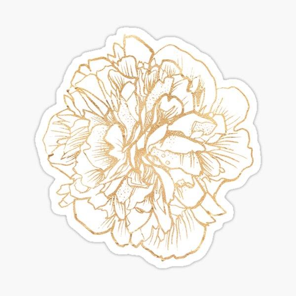 Flower Illustration Spiritual Boho Gold Decor  Sticker