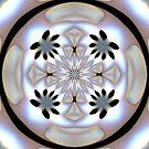 Pearlescent Cross Mandala by pelmof
