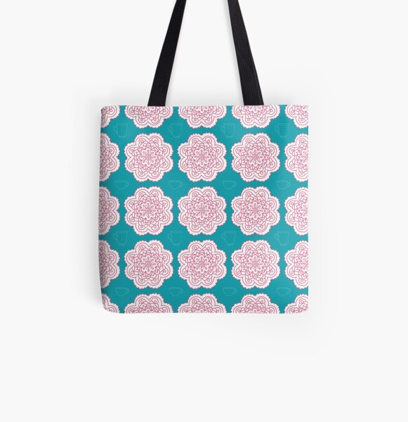 Tea Party Doilies by Creative Bee Studios All Over Print Tote Bag