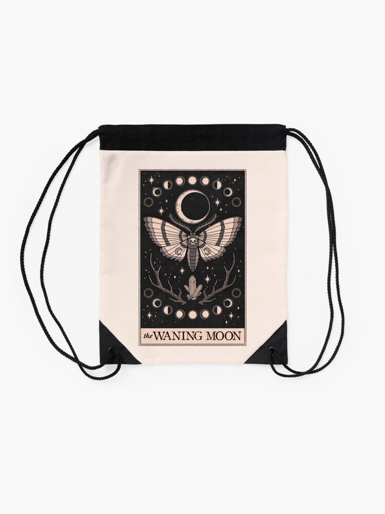 Alternate view of The Waning Moon Drawstring Bag